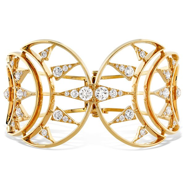 4.72 ctw. Triplicity Golden Cuff in 18K Yellow Gold by Hearts On Fire
