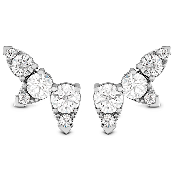 Earrings - 1.4 ctw. Aerial Diamond Ear Vine Earrings in 18K White Gold