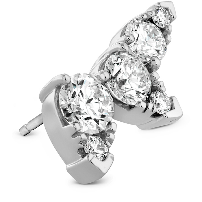 Earrings - 1.4 ctw. Aerial Diamond Ear Vine Earrings in 18K White Gold - image #2