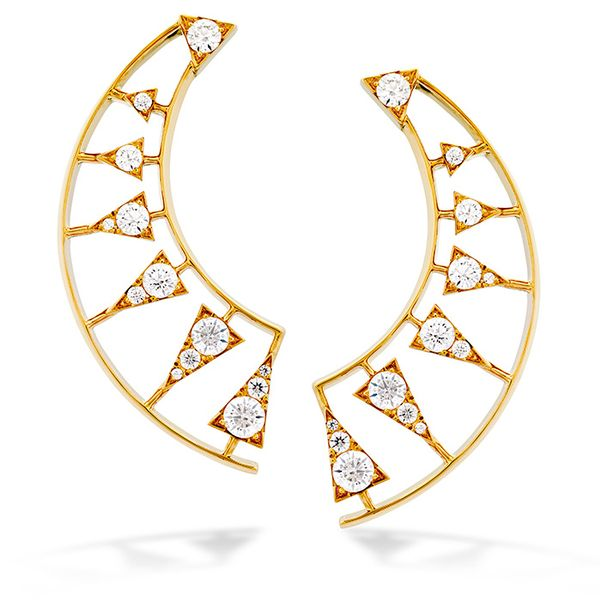 1.42 ctw. Triplicity Golden Earrings in 18K Yellow Gold by Hearts On Fire