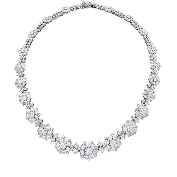 Necklaces - 39 ctw. Beloved Cluster Necklace in 18K White Gold