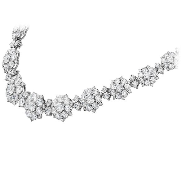 Necklaces - 39 ctw. Beloved Cluster Necklace in 18K White Gold - image #2