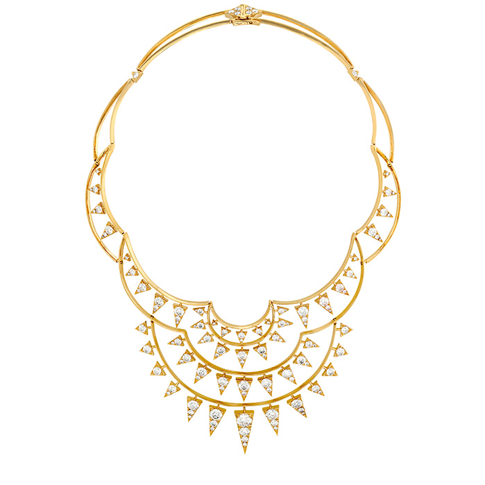 17.95 ctw. Triplicity Golden Necklace in 18K Yellow Gold by Hearts On Fire