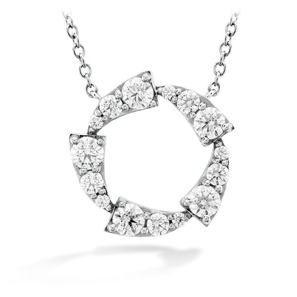 0.65 ctw. Triplicity Circle Pendant in 18K White Gold by Hearts On Fire