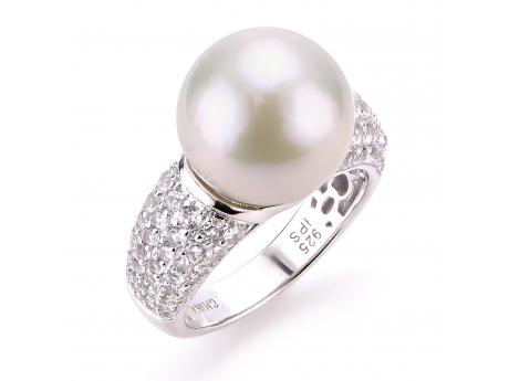 Sterling Silver Freshwater Pearl Ring by Imperial Pearls