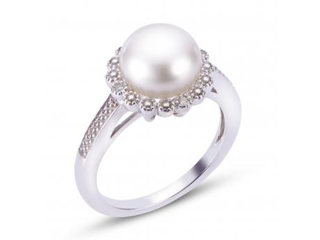 Sterling Silver Freshwater Pearl Ring by Imperial