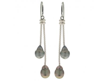 Sterling Silver Tahitian Pearl Earrings Karen's Jewelers Oak Ridge, TN