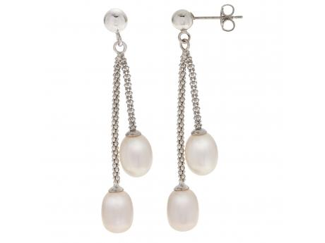 Sterling Silver Freshwater Pearl Earrings Sanders Diamond Jewelers Pasadena, MD