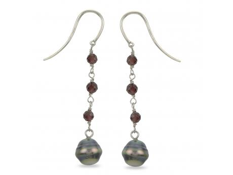 Sterling Silver Tahitian Pearl Earrings Rick's Jewelers California, MD