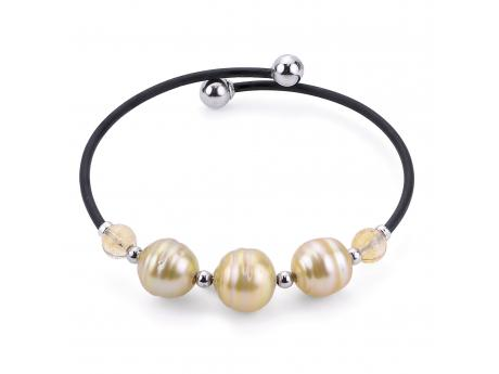 Sterling Silver Golden South Sea Pearl Bracelet Karen's Jewelers Oak Ridge, TN