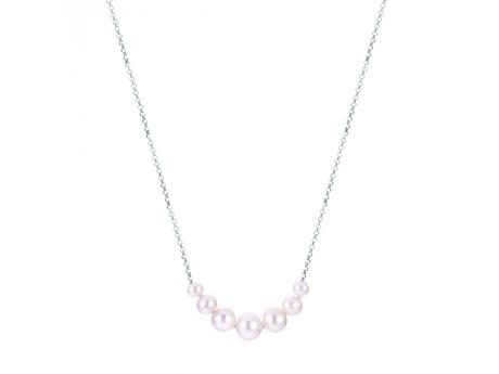 "18""+ 2"" ext 925  4-8MM GRADUATED WHITE FWP NECKLACE"
