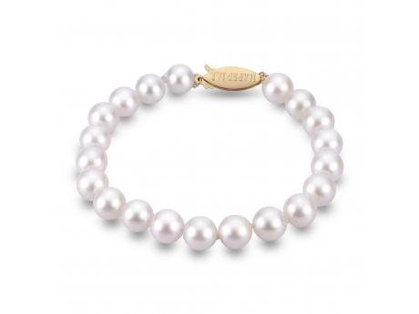 14K Yellow Gold Akoya Pearl Bracelet by Imperial Pearls