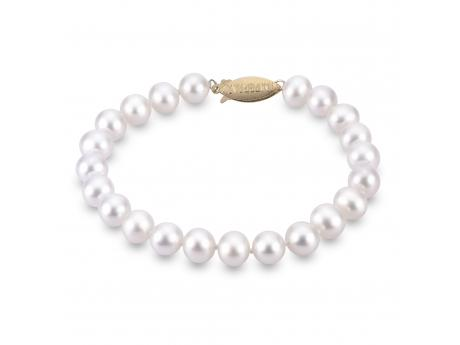 14K Yellow Gold Freshwater Pearl Bracelet by Imperial Pearls