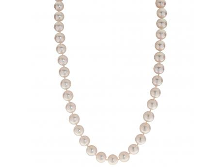 14K White Gold Akoya Pearl Necklace by Imperial Pearls