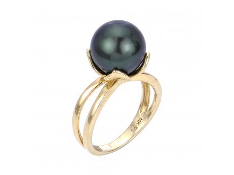 14K Yellow Gold Tahitian Pearl Ring Cowardin's Jewelers Richmond, VA