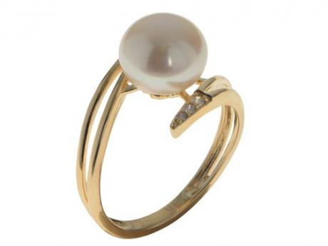 1478ceb00 14K Yellow Gold Freshwater Pearl Ring 914908/FW-7 | Pearl Rings from Rick's  Jewelers | California, MD