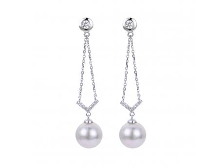 14K White Gold Akoya Pearl Earrings Bijoux Fine Jewelers Sulphur, LA