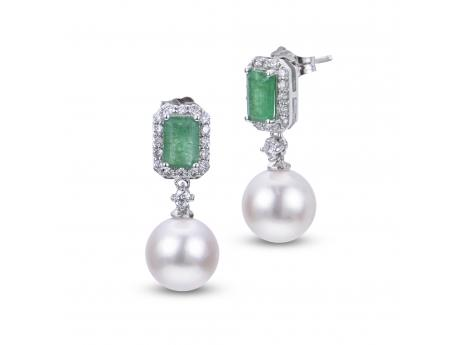 14K White Gold Akoya Pearl Earrings Mitchell's Jewelry Norman, OK