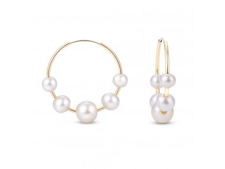 14K Yellow Gold Freshwater Pearl Earrings Patterson's Diamond Center Mankato, MN