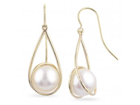 14K Yellow Gold Freshwater Pearl Earrings Baker's Fine Jewelry Bryant, AR