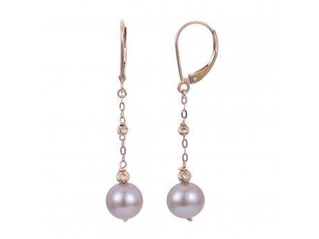 14K Rose Gold Freshwater Pearl Earrings Patterson's Diamond Center Mankato, MN
