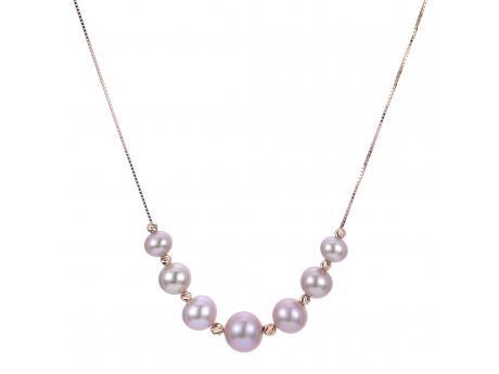 14K Rose Gold Freshwater Pearl Necklace Cowardin's Jewelers Richmond, VA