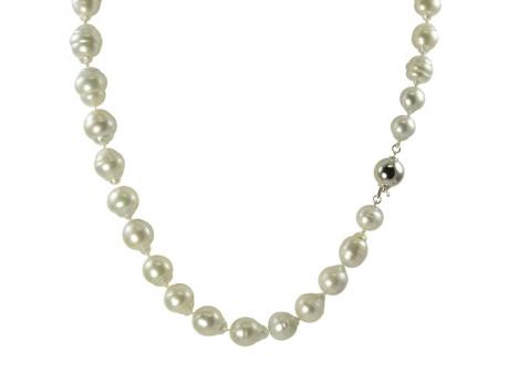 18K White Gold South Sea Pearl Necklace Clater Jewelers Louisville, KY