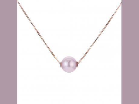 14K Rose Gold Freshwater Pearl Necklace Baker's Fine Jewelry Bryant, AR