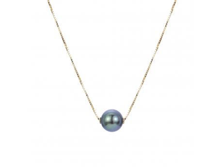 14K Yellow Gold Tahitian Pearl Necklace Baker's Fine Jewelry Bryant, AR