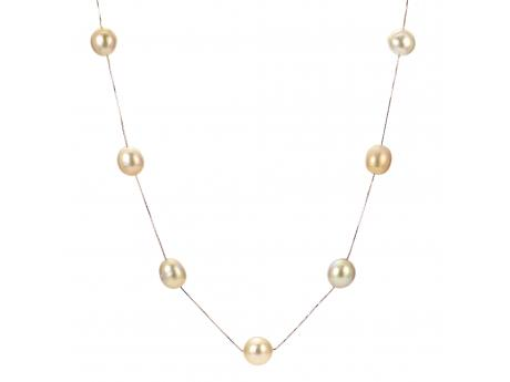 14K Yellow Gold Golden South Sea Pearl Necklace Baker's Fine Jewelry Bryant, AR