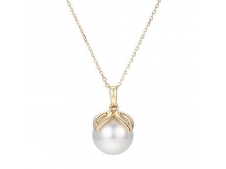 d01d918c39110 14K Yellow Gold Freshwater Pearl Pendant