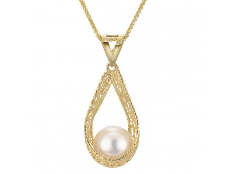 14K Yellow Gold Freshwater Pearl Pendant Baker's Fine Jewelry Bryant, AR