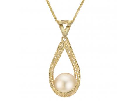 14K Yellow Gold Golden South Sea Pearl Pendant Baker's Fine Jewelry Bryant, AR