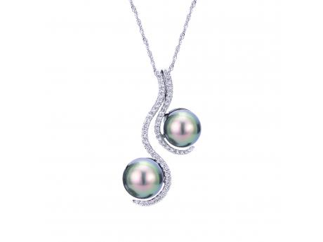 14K White Gold Tahitian Pearl Pendant Clater Jewelers Louisville, KY