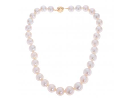 14K Rose Gold Freshwater Pearl Necklace Sanders Diamond Jewelers Pasadena, MD