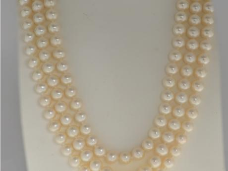 14K Yellow Gold Freshwater Pearl Necklace Patterson's Diamond Center Mankato, MN