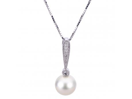 Sterling Silver Freshwater Pearl Pendant Mitchell's Jewelry Norman, OK