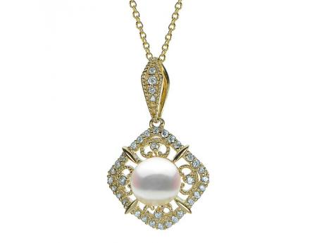 Sterling Silver Akoya Pearl Pendant by Imperial Pearls