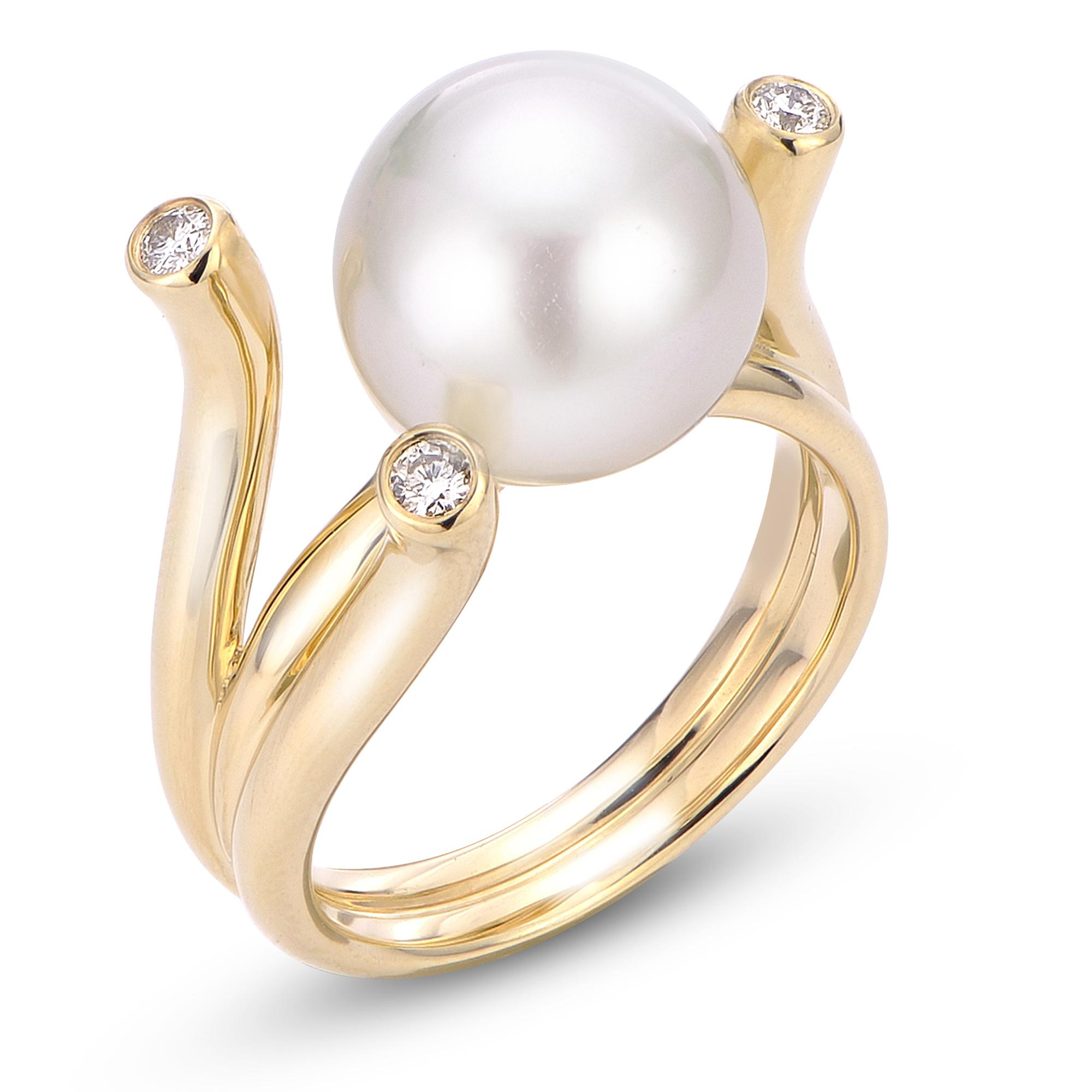 5c1803005 14K Yellow Gold South Sea Pearl Ring 914471/WSS-7 | Rings from ...