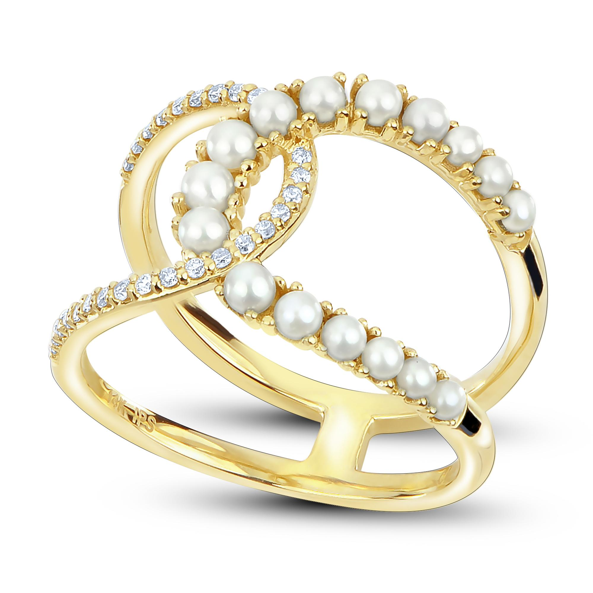 9fcb2ac90 14K Yellow Gold Freshwater Pearl Ring 917121/FW | Pearl Rings from D ...