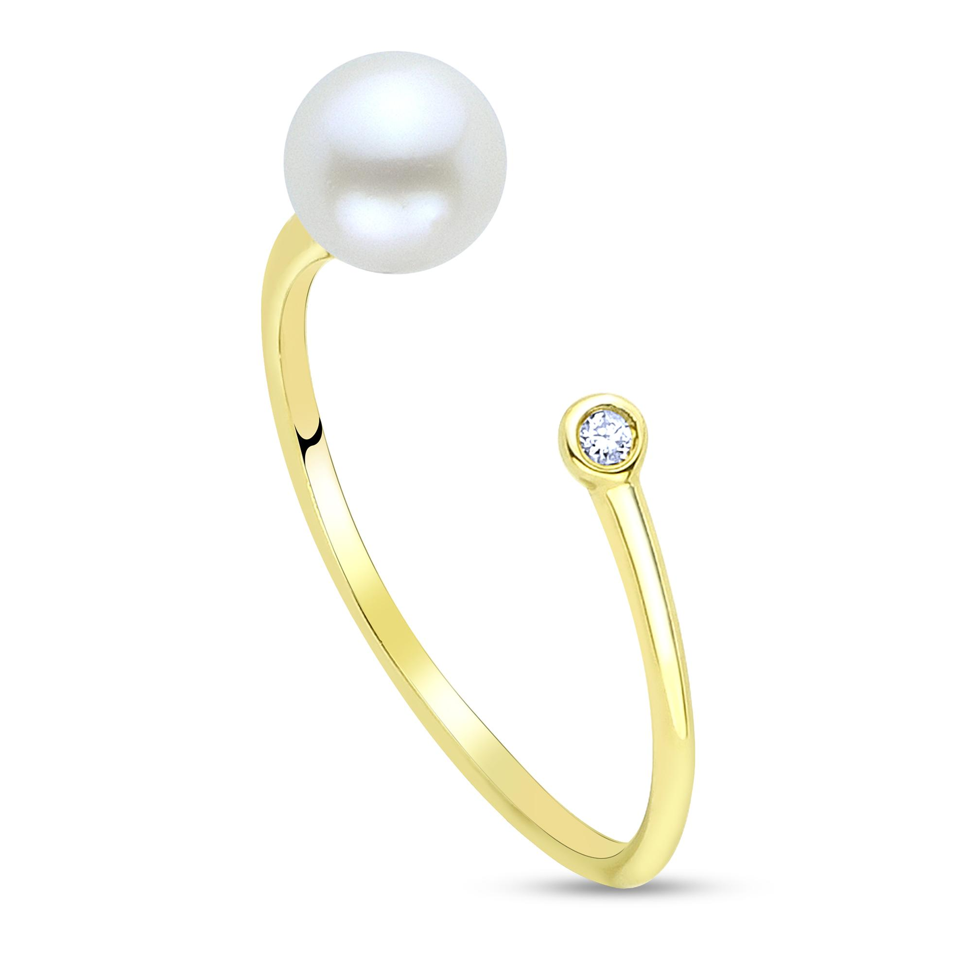 d529d5703 14K Yellow Gold Freshwater Pearl Ring 917200/FW | Rings from Vincent ...
