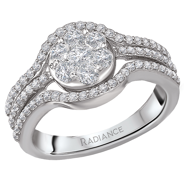 Diamond Cluster Fashion Ring by Radiance