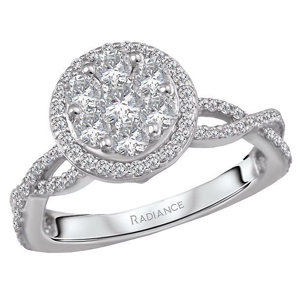 Halo Diamond Cluster Ring by Radiance