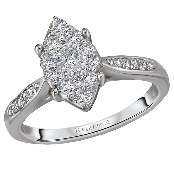 Diamond Cluster Bridal Ring by Radiance