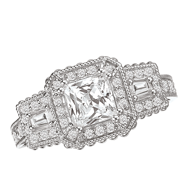 Halo Semi-Mount Diamond Ring by La Vie