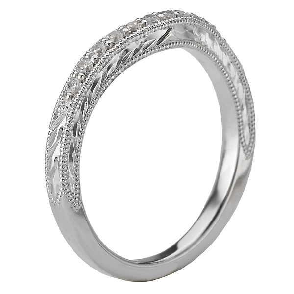 Rings - Curved Wedding Band - image #2