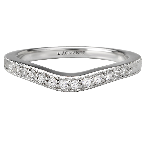 Rings - Curved Wedding Band - image #4