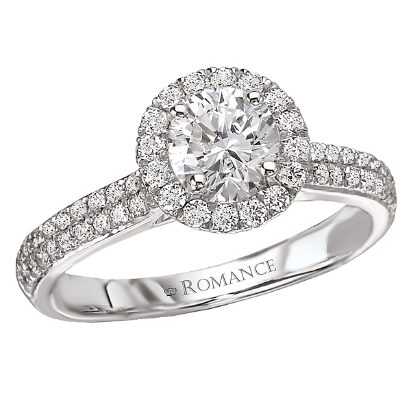 Rings - Halo Semi-Mount Diamond Ring