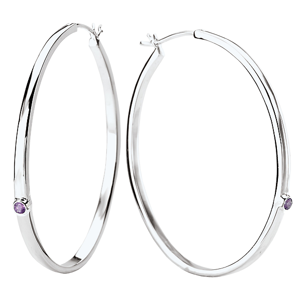Ladies Fashion Hoop Earrings by Eleganza