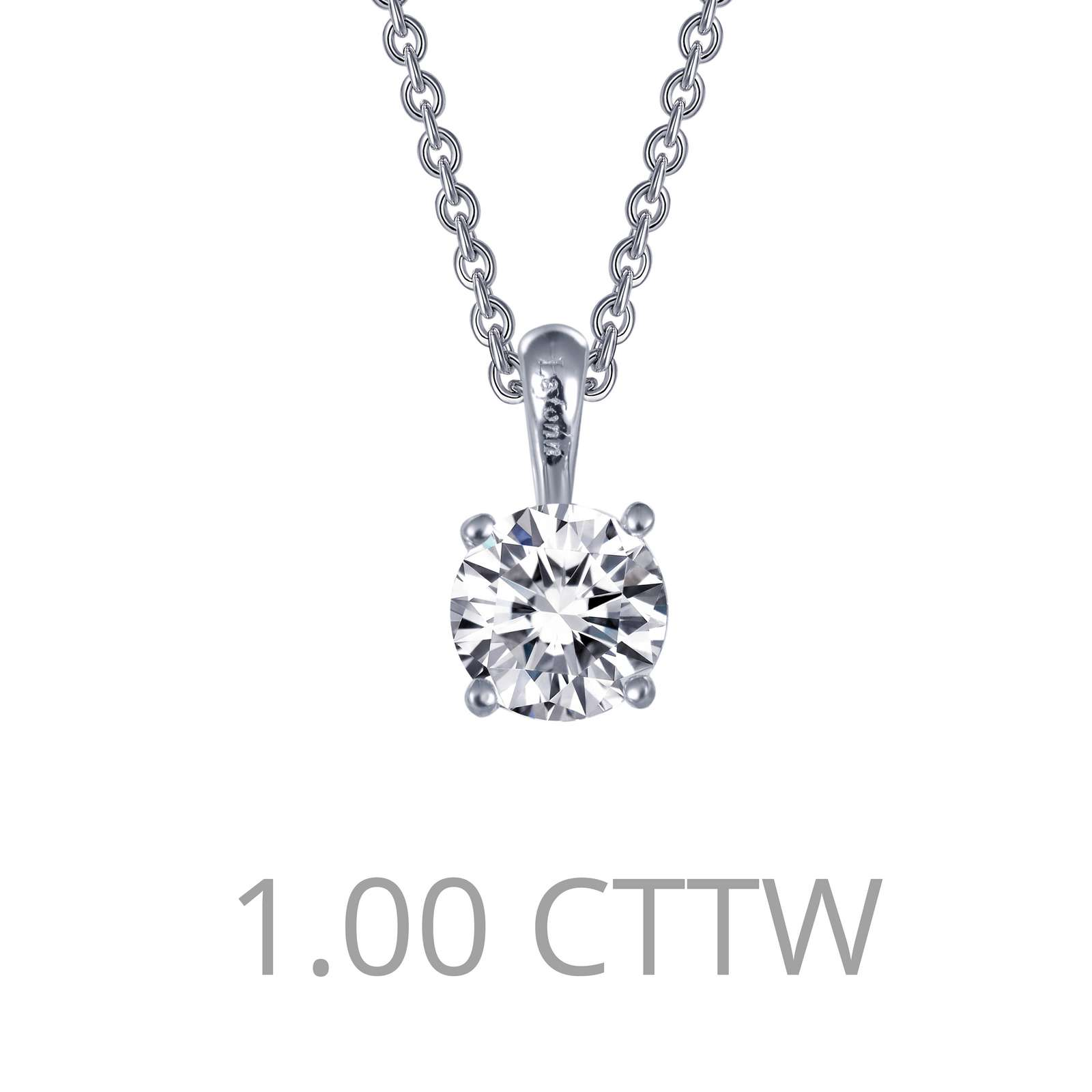 Classic Simulated Diamond Platinum Bonded Necklace Lake Oswego Jewelers Lake Oswego, OR